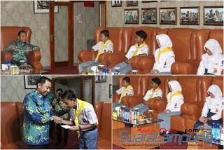 foto. Ikuti Jumbara PMR Tinggkat Nasional, PMI Lampura Audensi Dengan Bupati Agung-789744